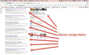 marmor reinigen Berlin Google Ergebnisse - Digitale Sichtbarkeit Rene Büttner