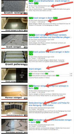 Granit reinigen youtube Ergebnisse - Videomarketing Berlin Rene Büttner