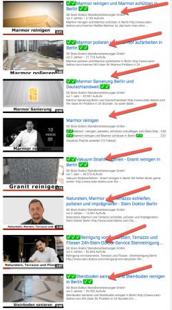 Marmor reinigen Berlin Youtube Ergbnisse Videomarketing Berlin Rene Büttner